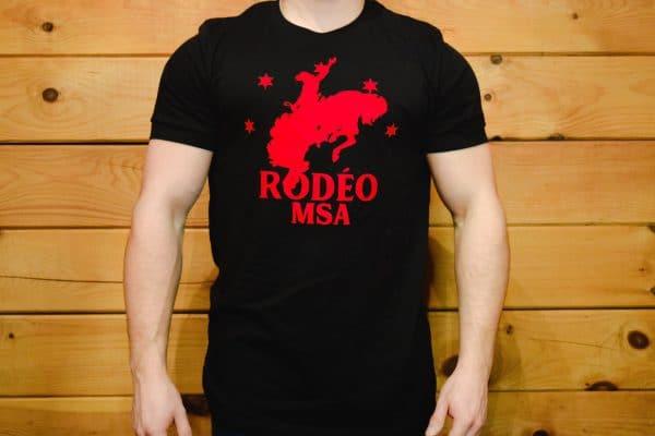 T-Shirt Rodéo MSA Noir Hommes